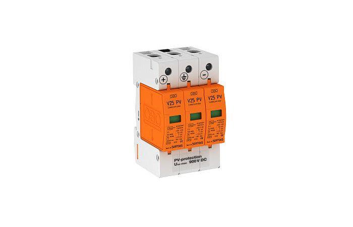 Ogranicznik przepięć 900Vdc B+C Typ 1+2 V25-B+C 3-PH900 | 5097447 Obo Bettermann