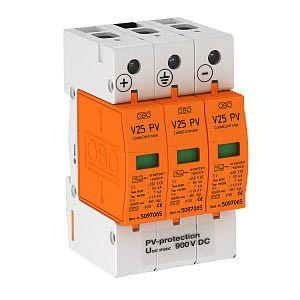 Ogranicznik przepięć 900V DC V25-B+C 3-PH900 | 5097447 Obo Bettermann