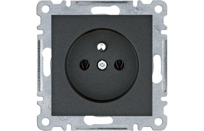 Gniazdo zasilające z/u, 16A/250VAC, czarny Lumina | WL1023 Hager